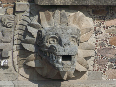 Teotihuacán - head of the feather snake